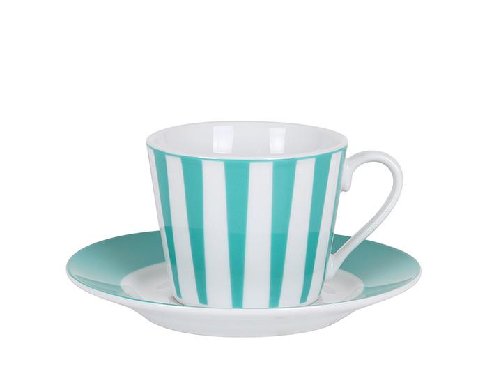 Strippes azul taza te P