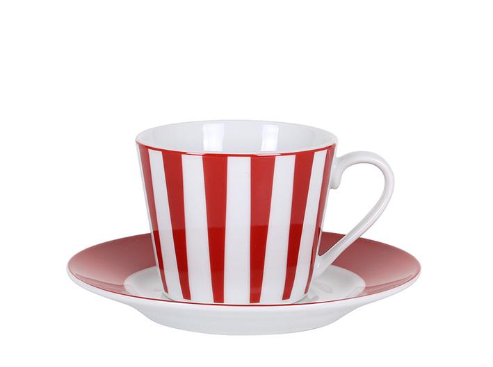 Strippes rojo taza te P