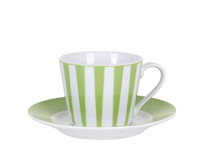 Strippes verde taza te P